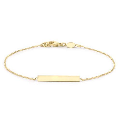 9ct Yellow Gold Bar Bracelet