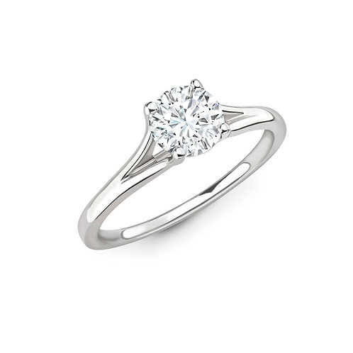 0.50ct Diamond Solitaire Split Shoulder Ring