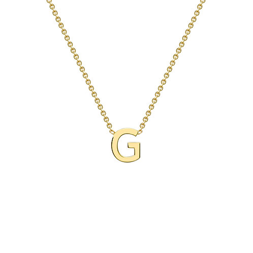 9ct Yellow Gold Initial G