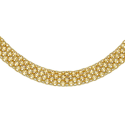 9ct Yellow Gold Ladies Bismark Necklace