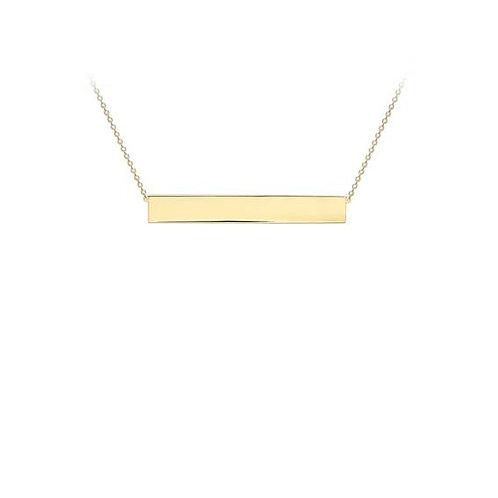 9ct Yellow Gold Bar Pendant