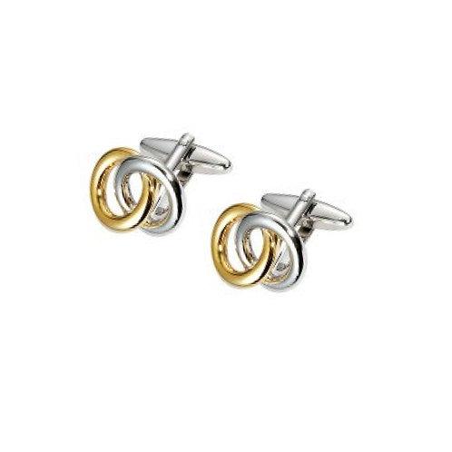 Stainless Steel Double Loop Cufflinks