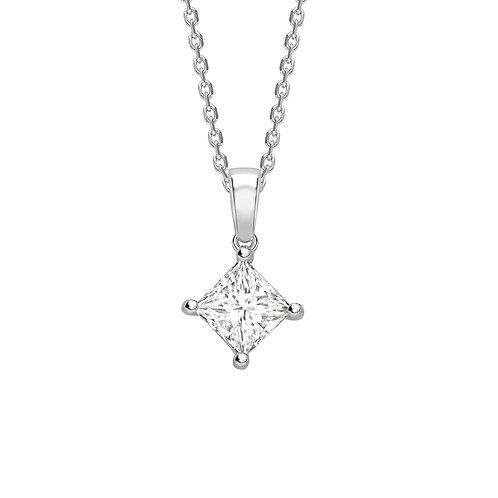 0.40ct Princess Cut Diamond Pendant