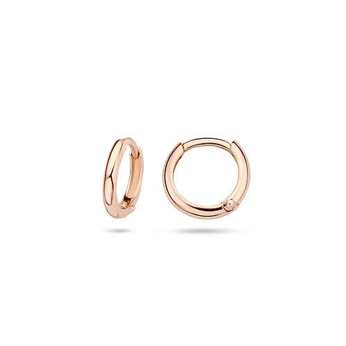 14ct Rose Gold 9.7mm Huggie Earrings