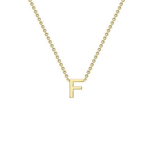 9ct Yellow Gold Initial F