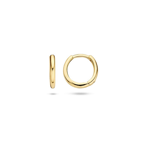 14ct Yellow Gold 10mm Huggie Earrings