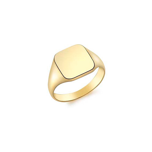 9ct Yellow Gold Square Signet