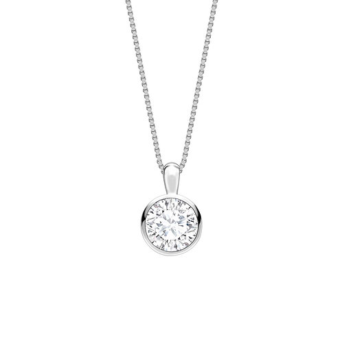 0.50ct Diamond Bezel Set Pendant