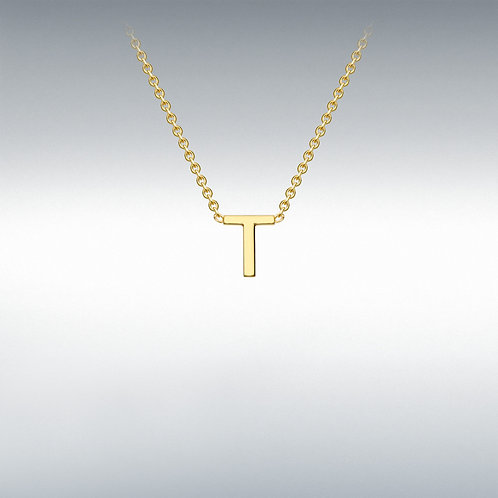 9ct Yellow Gold Initial T