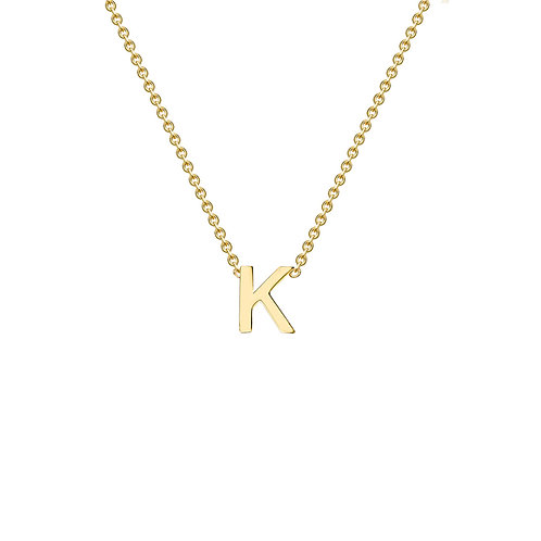 9ct Yellow Gold Initial K