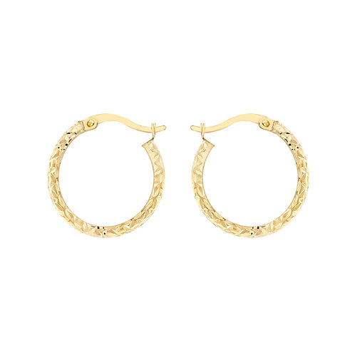 9ct Yellow Gold 18mm Creole Earrings