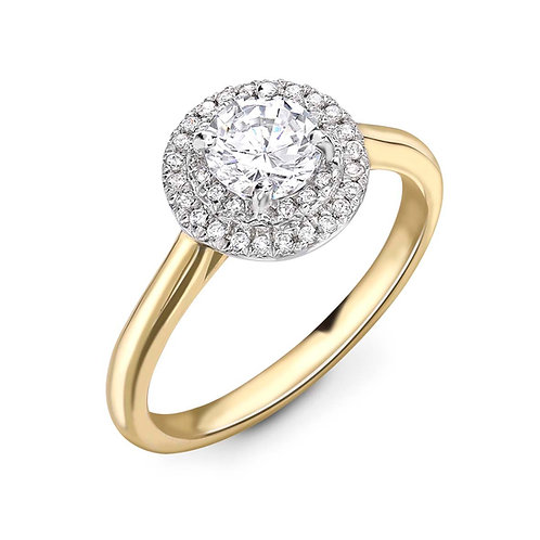 0.50ct Diamond Solitaire Halo Ring