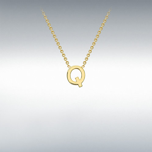 9ct Yellow Gold Initial Q