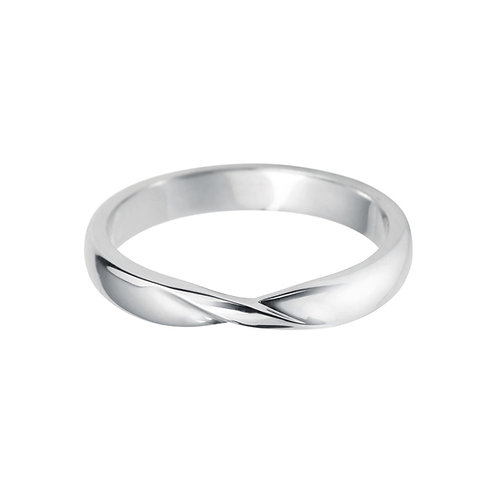 Twist Band in 18ct White Gold