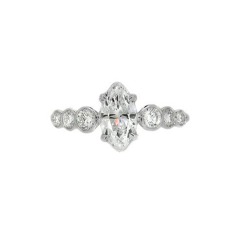 18ct White Gold Marquise Cut Diamond Ring