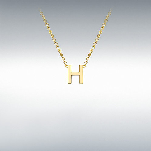 9ct Yellow Gold Initial H