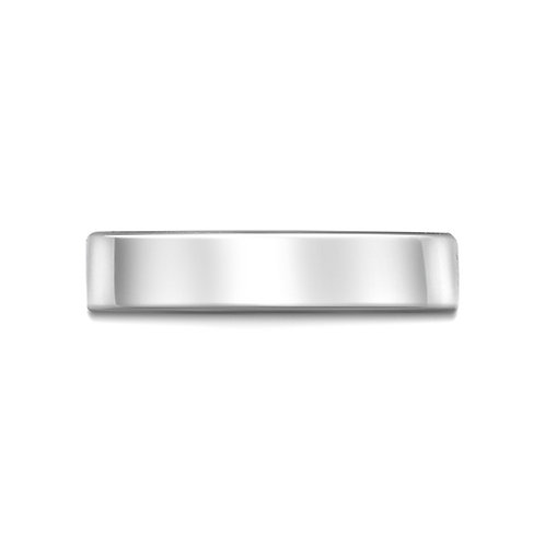 5mm Flat Court Band in 9ct White Gold