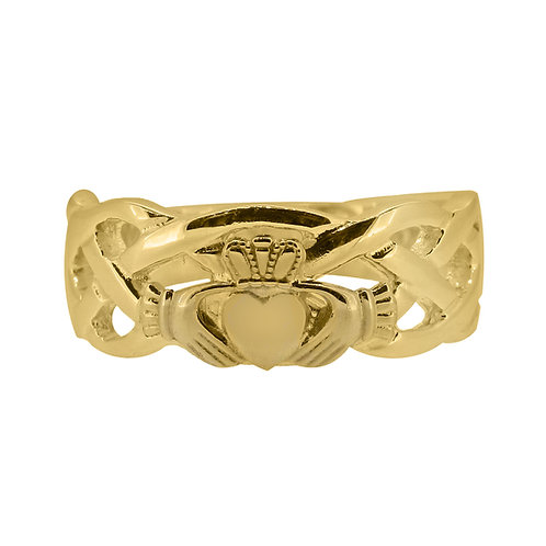 10ct Yellow Gold Gents Unity Ring
