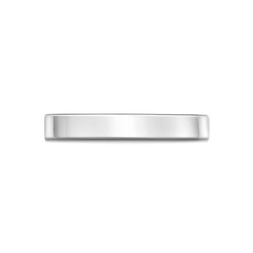 2mm Flat Court Band in 18ct White Gold