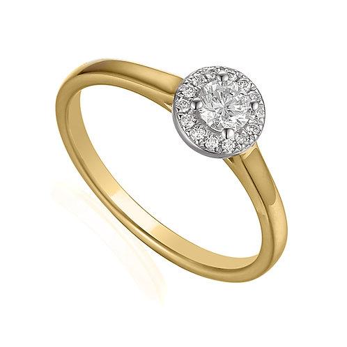 0.27ct Diamond Solitaire Halo Ring
