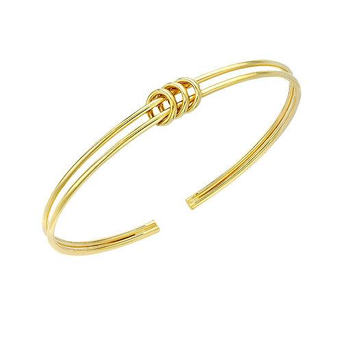 9ct Yellow Gold Triple Ring Bangle