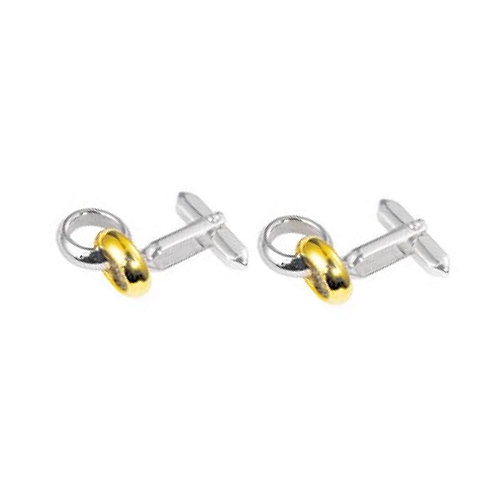 Stainless Steel Double Ring Cufflinks