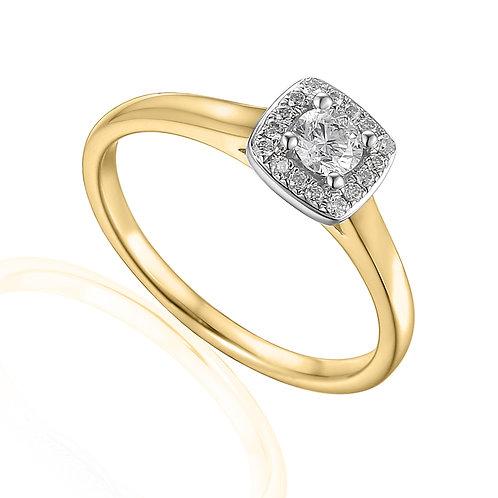 0.22ct Diamond Solitaire Halo Ring