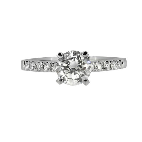 18ct 0.80ct Diamond Solitaire Ring