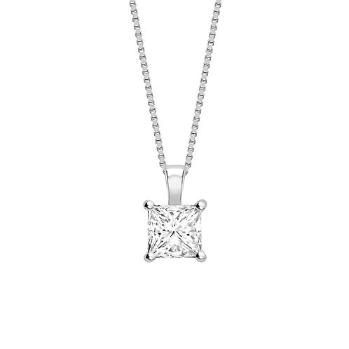 0.40ct Princess Cut Diamond Pendant
