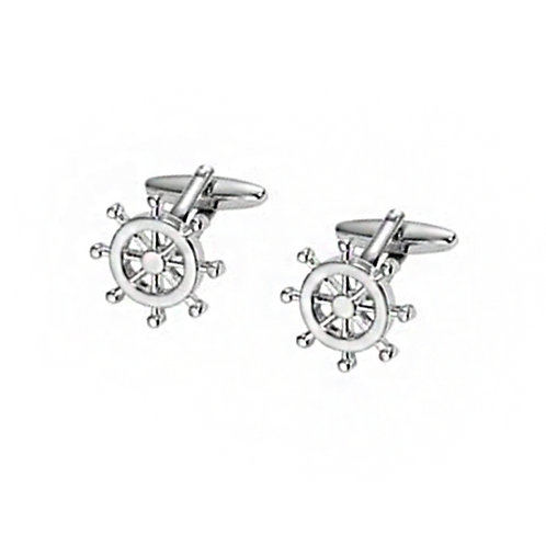 Stainless Steel Helm Cufflinks