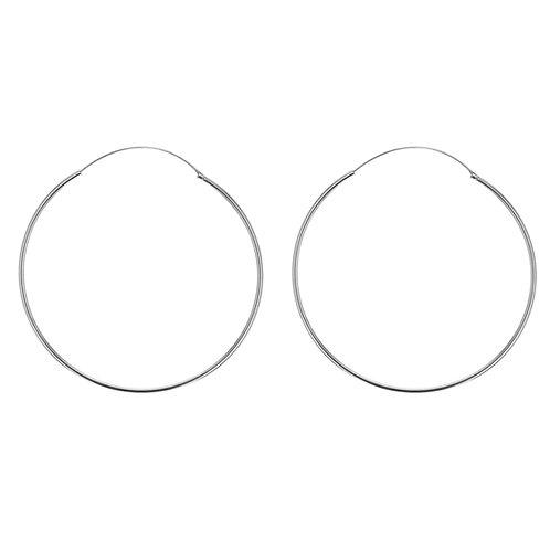 Sterling Silver 60mm Classic Hoop Earrings