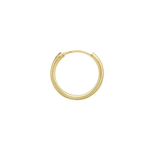 Yellow Gold Vermeil 15mm Classic Hoop