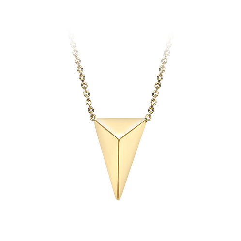 9ct Yellow Gold Pyramid Necklace