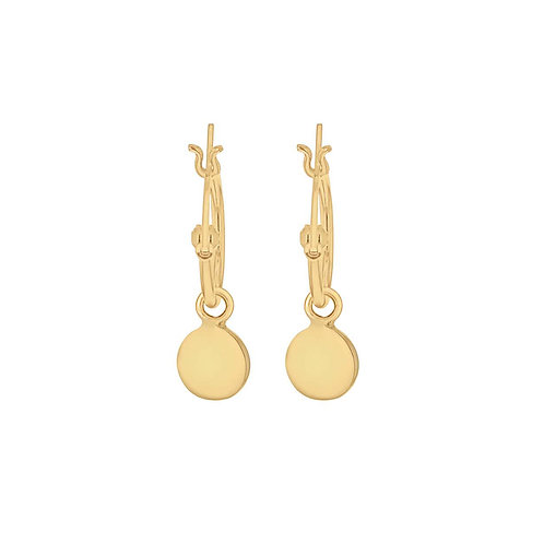 Yellow Plated Silver Drop Earrings