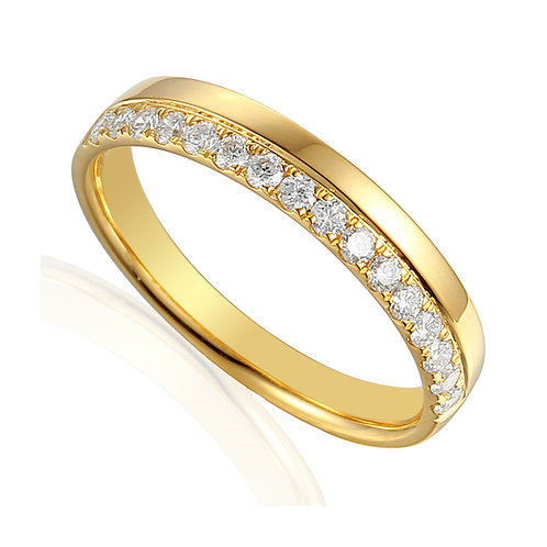 18ct Yellow Gold Microclaw Set Band
