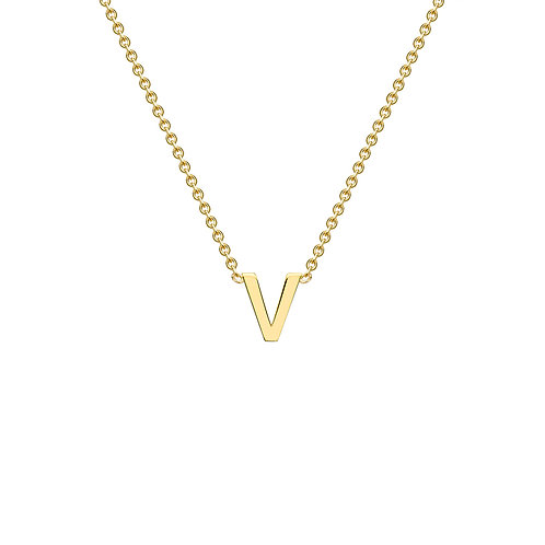 9ct Yellow Gold Initial V