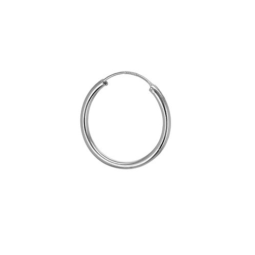 Sterling Silver 19mm Classic Hoop