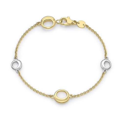 9ct Yellow Gold and White Gold Design Bracelet