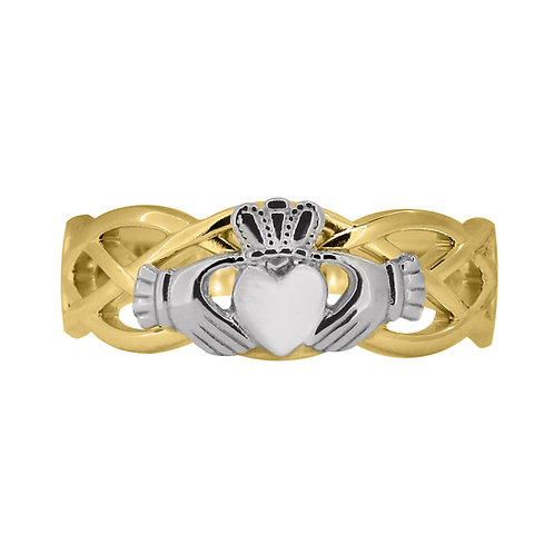 10ct Yellow and White Gold Ladies Unity Ring