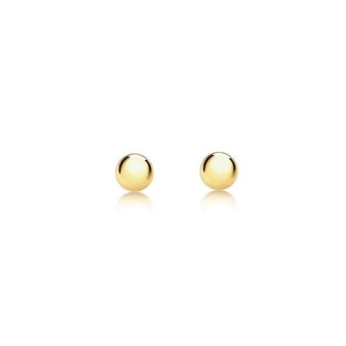 9ct Yellow Gold 2mm Polished Ball Stud Earrings