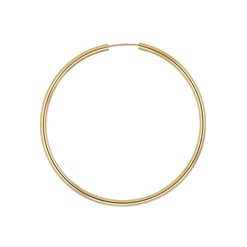 12ct Gold Filled Single 50mm Hoop