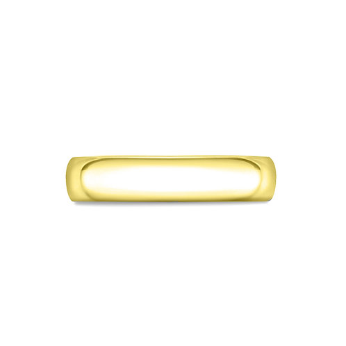 4mm Court Shaped Band in 18ct Yellow Gold