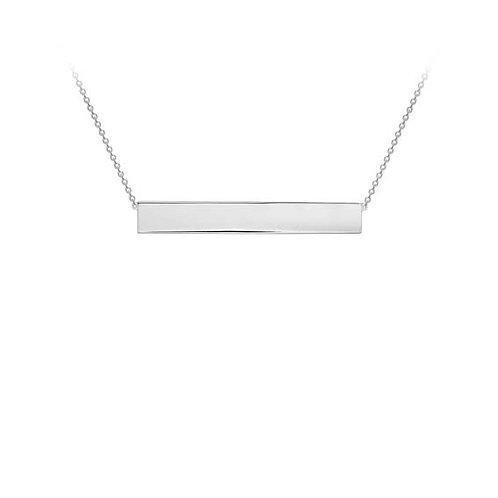 Sterling Silver Bar Pendant