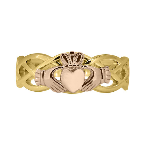 10ct Yellow and Rose Gold Ladies Unity Ring
