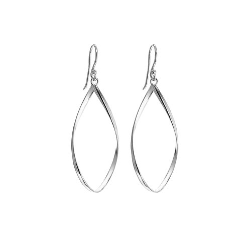 Sterling Silver Teardrop Twist Earrings