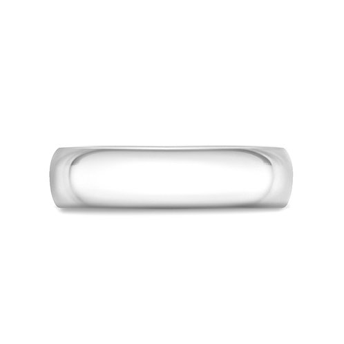 6mm Court Shaped Band in 9ct White Gold
