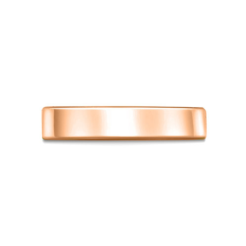 4mm Flat Court Shaped Band in 9ct Rose Gold