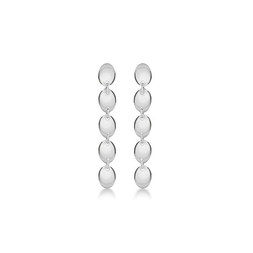 Sterling Silver Bead Sheet Drop Earrings