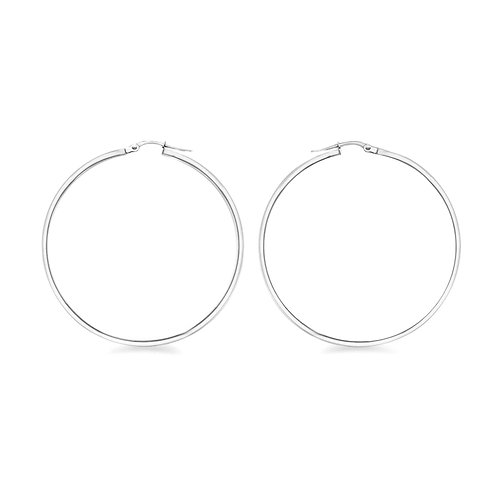 Sterling Silver 60mm Creole Hoop Earrings