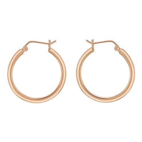 Rose Gold Vermeil 30mm Hoop Earrings